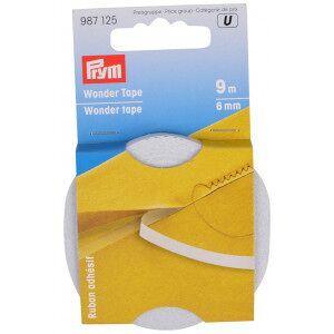 Prym Wonder Tape Dobbeltsidig tape Transparent 6mm 9m