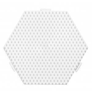 Hama Midi Perleplate Samleplate Sekskant Medium Hvit 12,5x11,5cm - 1 s