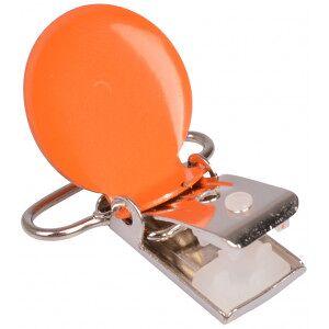 Diverse Seleklips Rund Oransje - 1 stk