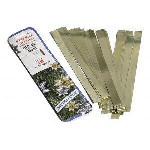 Diverse Stjernestrimler Gull 15mm - 100 stk