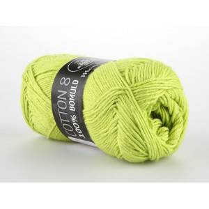 Mayflower Cotton 8/4 Garn Unicolor 1446 Lys Grønn