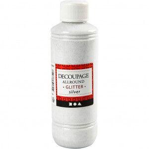 Diverse Decoupage, 250 ml, sølv