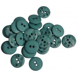 Diverse Knapper Plast Mørk Grønn 23mm - 30 stk