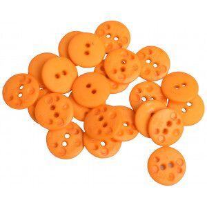 Diverse Knapper Plast Oransje 20,5mm - 24 stk