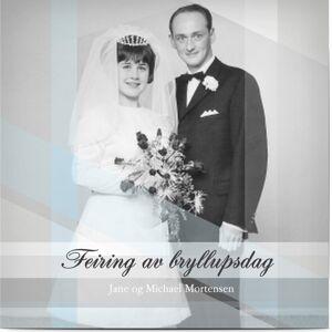 Optimalprint Invitasjon Bryllupsdag, fotokort (1 foto), spesielle anledninger, blå, kvadratisk, flatt, Optimalprint