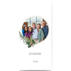 Optimalprint Invitasjoner til bedriftsjulebordet, fotokort (1 foto), julepynt, foliage, hellig, vinstokk, hvit, klassisk, panorama DL, flatt, Optimalprint