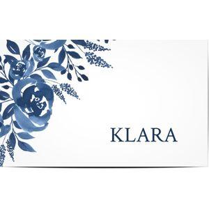Optimalprint Bordkort, bukett, blomster, rose, roser, vannfarge, blå, hvit, moderne, bordkort, flatt, Optimalprint