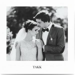 Optimalprint Elegant thank you card wedding, fotokort (1 foto), eleganse, script, hvit, klassisk, kvadratisk, flatt, Optimalprint