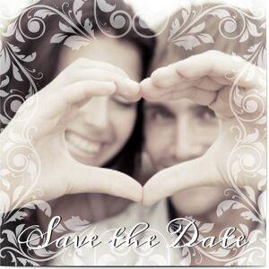 Optimalprint Save the Date, fotokort (1 foto), klassisk, kvadratisk, flatt, Optimalprint