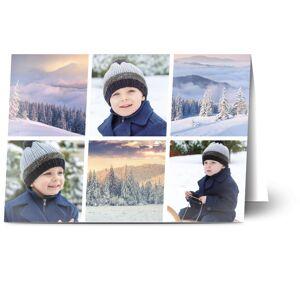 Optimalprint Julekort, 3 bilder, landskap, snø, minimalistisk, A6, brettet, Optimalprint