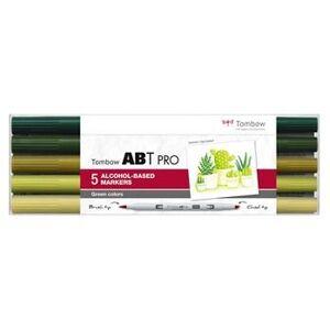 Tombow alkohol märkpenna ABT PRO Dual Brush 5P-5 grön farver