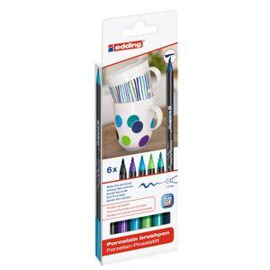 Edding 4200 Porslinspenna 6-Set Cool
