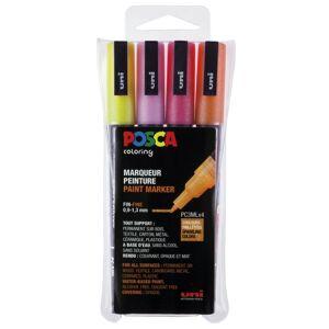 Posca Posca Pc-3m Glitter Red Tones 4-Set