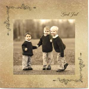 Optimalprint Julkort Vintage fotografi, glansigt papper, standard-kuvert, 1 st, fotokort (1 foto), klocka, brun, klassiskt, barn, kvadratiskt, enkelt, Optimalprint