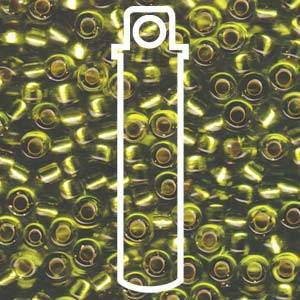 Miyuki seed beads - Silverlined Chartreuse 5/0 E- beads, 20 gram