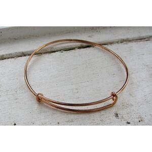 Armbandsstomme Roséguldfärgad - Wire med 2 öglor, 1 Styck