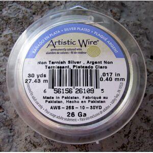 Artistic Wire 26 Ga - Silver pläterad,Non tarnish, 1 rulle