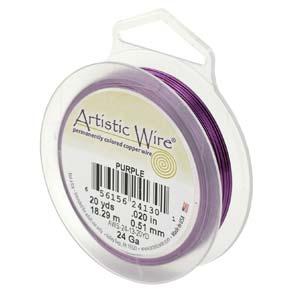 Artistic Wire 18 Ga - Purple, 1 rulle