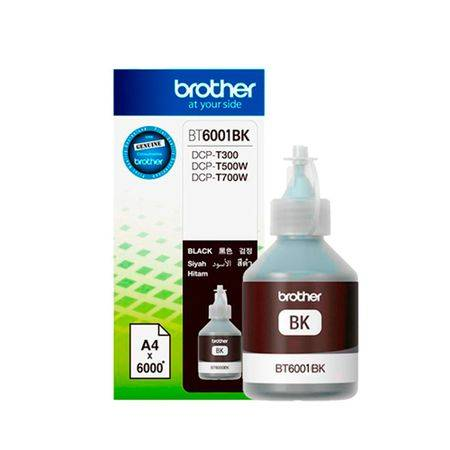 Brother Tinta Brother Black BT6001 T300 T500W T700W T800W Original