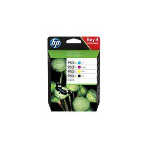 HP 953XL Combo pakke - Mustepatruuna musta