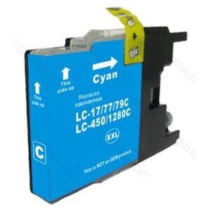 Brother LC1280XLC korvaava Cyan Premium luokan kasetti, Takuu 2v.