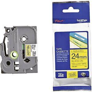 Brother Merking tape bror TZe, TZ TZe-651 Tape farge: gul skrift farge: svart 24 mm 8 m