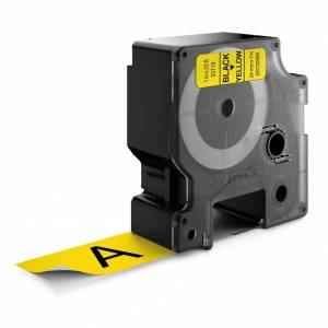 Dymo Standard D1 Teip 24mm Svart på gult