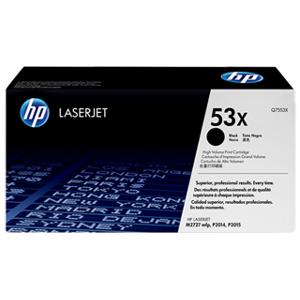 HP 53X BK Toner - Q7553X Original - Svart 7000 sider