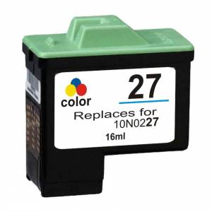 Lexmark 27 blekkpatron - 10N0227 Kompatibel - Svart 3-Farve 10 ml