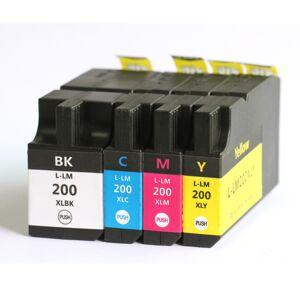 Lexmark 200 XL blekkpatron combo pack 4 stk - kompatibel - BK/C/M/Y 185 ml