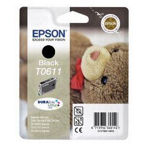 Epson T0611 BK blekkpatron - C13T06114010 Original - Svart 250 sidor