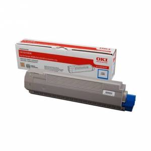Oki C 810/830 C lasertoner - 44059107 Original - Cyan 8000 sider