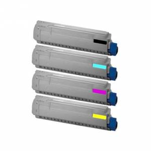 Oki C801/C821 combo pack 4 stk Lasertoner - kompatibel - BK/C/M/Y 28900 sider