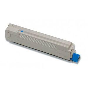 Oki C8600/C8800 C Lasertoner - 43487711 kompatibel - Cyan 6000 sider