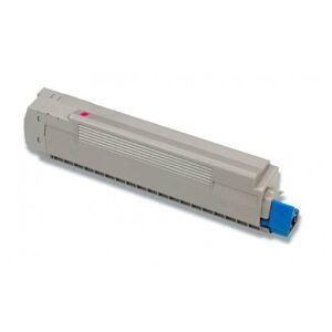 Oki C8600/C8800 M Lasertoner - 43487710 kompatibel - Magenta 6000 sider