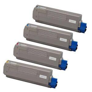 Oki 46490608/46490607/46490606/46490605 combo pack 4 stk Lasertoner - kompatibel - BK/C/M/Y 25000 sider