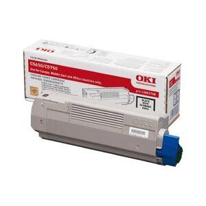 Oki C 5650/5750 BK lasertoner - 43865708 Original - Svart 8000 sider