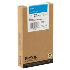 Epson T6122 Blekkpatron - Stylus Pro 7400, Pro 7450, Pro 9400 - Cyan