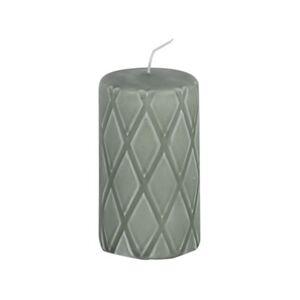 Imerco Home Bloklys - H 12 cm - Stearin - Støvet grøn