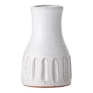 Bloomingville Retro Vase 9,5x5 cm Strek Hvit terrakotta