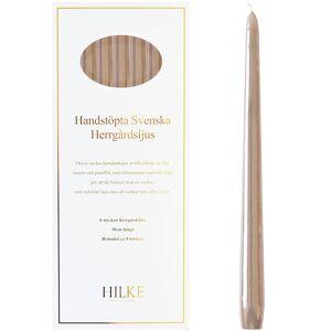 Hilke Collection Stearinlys 6-pk, Lin Glans