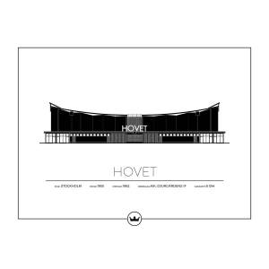 Sverigemotiv Hovet Stockholm Poster 40x50cm
