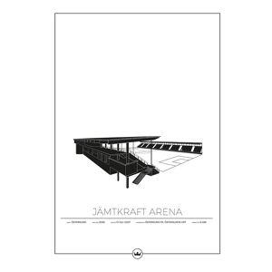 Sverigemotiv Jämtkraft Arena Östersund Poster 50x70cm