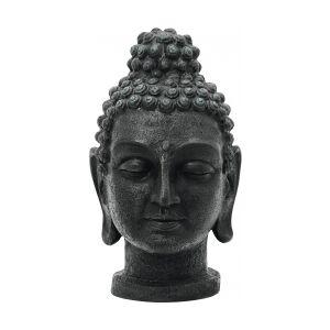 Antique Europalms Head of Buddha, antique-black, 75cm buddhahode antikk palms hodet av