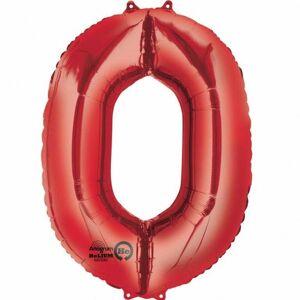 Amscan Supershape rød antall ballonger 5