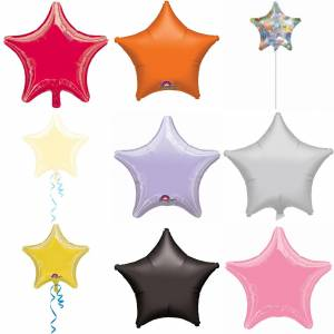 Amscan 18 tommers vanlig stjerne formet folie ballong Perle syrin One Size