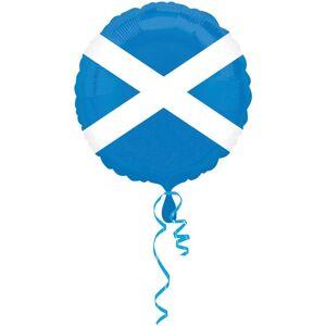 Amscan 18 tommers Skottland flagg sirkulær folie ballong Hvit/blå One Size