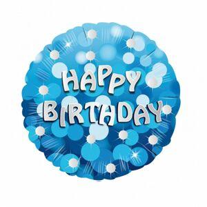 Amscan 18 tommers blå Happy Birthday rundskriv folie ballong One Size