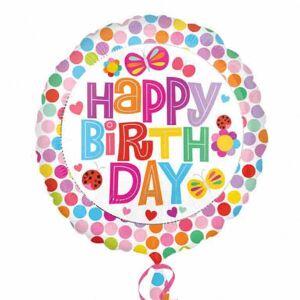 Amscan Happy Birthday Floral folie ballong Flerfarget One Size