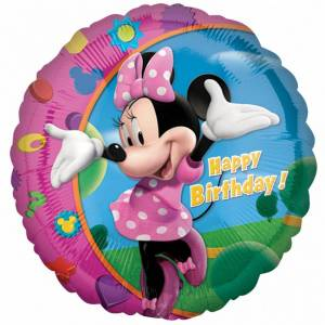 Amscan 18 tommers Disney Minnie Mouse Happy Birthday rundskriv folie ballong Flerfarget One Size